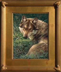 Grey Wolf wildlife art print