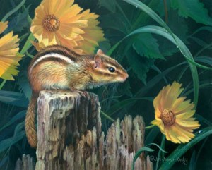 Chipmunk Wildlife Art Print