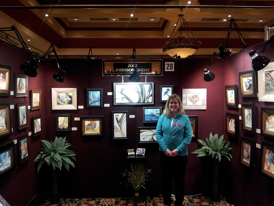 Joni at the 2015 Natureworks Wildlife Art Show